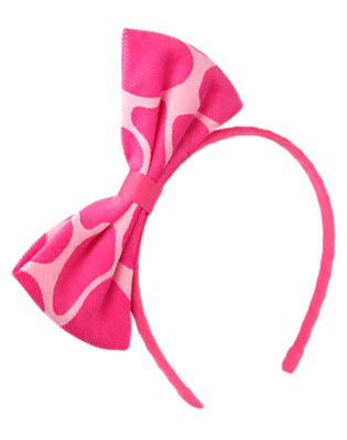 Loveable Pink Giraffe Giraffe Bow Headband by Gymboree