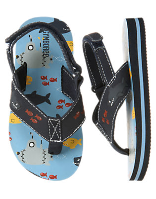 Toddler Boys Blue Skies Sea Creatures Flip Flop by Gymboree