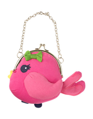 Girls Daisy Pink Bird Purse by Gymboree