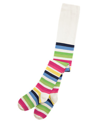 Girls Clover Green Stripe Stripe Tight by Gymboree