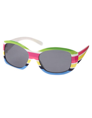 Girls Clover Green Stripe Stripe Sunglasses by Gymboree