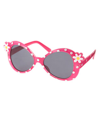 Girls Daisy Pink Dot Flower Dot Sunglasses by Gymboree