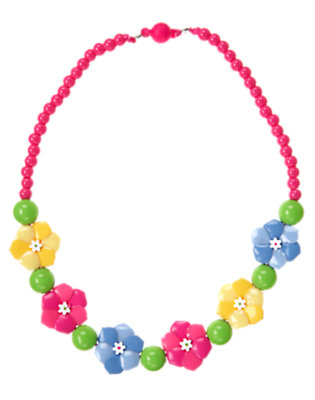 Girls Sunny Yellow Flower Necklace by Gymboree