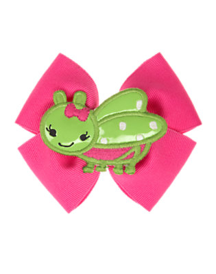 Clover Green Grasshopper Bow Hair Clip by Gymboree
