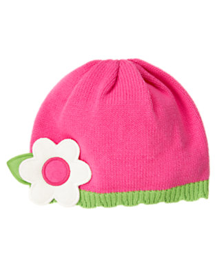 Toddler Girls Daisy Pink Flower Sweater Hat by Gymboree