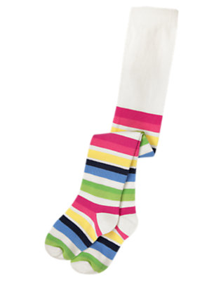 Clover Green Stripe Stripe Tight by Gymboree