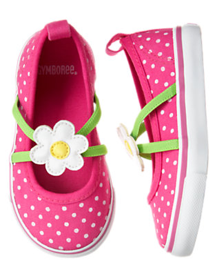 Toddler Girls Daisy Pink Dot Flower Dot Sneaker by Gymboree