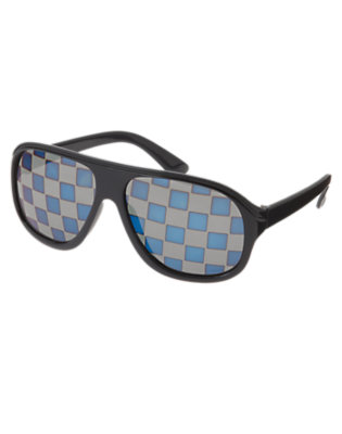 Toddler Boys Midnight Blue Checkered Sunglasses by Gymboree