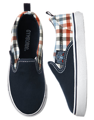 Boys Midnight Blue Race Car Slip-On Sneaker by Gymboree