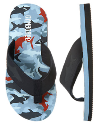 Boys Blue Skies Shark Shark Flip Flop by Gymboree