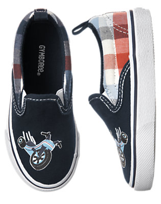 Toddler Boys Midnight Blue Big Wheel Slip-On Sneaker by Gymboree