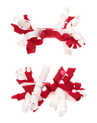 Toddler Girls Valentine Red Curly Hair Clip Two-Pack by Gymboree