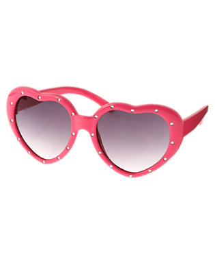 Girls Sweetheart Pink Gem Heart Sunglasses by Gymboree
