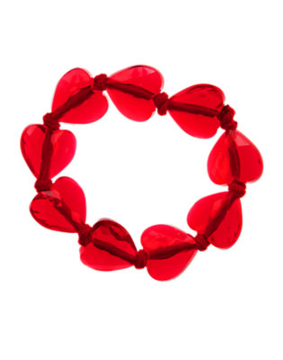 Valentine Red Faceted Heart Bracelet by Gymboree