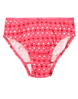 Toddler Girls Sweetheart Pink Heart Panty by Gymboree