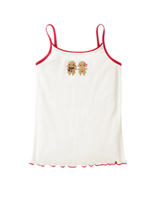 Toddler Girls Holiday Ivory Gingerbread Girl Cami by Gymboree