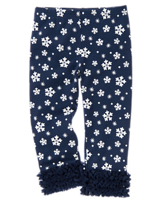 Toddler Girls Princess Blue Snowflake Snowflake Tulle Ruffle Legging by Gymboree