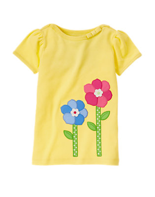 Sunny Yellow Growing Flowers Tee by Gymboree