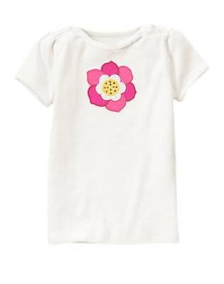 Ivory Gem Flower Tee by Gymboree