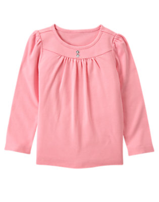 Playful Pink Gem Button Tee by Gymboree