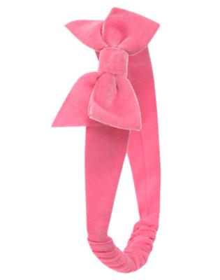 Penguin Pink Velveteen Bow Fruffle by Gymboree