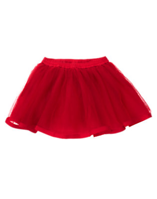 Toddler Girls Cheery Red Tutu Skirt by Gymboree