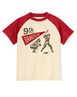 Light Khaki 9th Grand Slam Baseball Tee by Gymboree