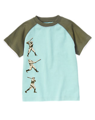 Ballpark Blue Baseball Batter Tee by Gymboree
