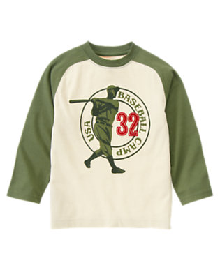 Boys Light Khaki Baseball Camp Raglan Tee by Gymboree