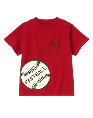 Boys Baseball Red Fastball Tee by Gymboree