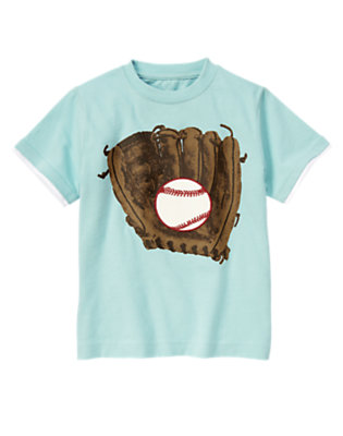 Ballpark Blue Baseball Glove Tee by Gymboree