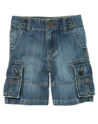 Boys Denim Denim Cargo Short by Gymboree