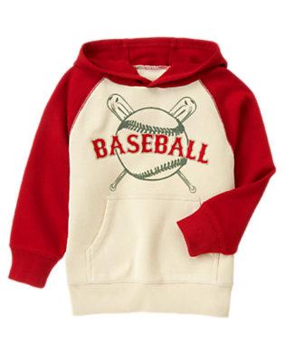 Baseball Red Baseball Camp Fleece Hoodie by Gymboree