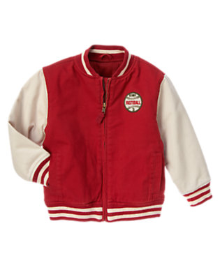 Baseball Red Baseball Varsity Jacket by Gymboree