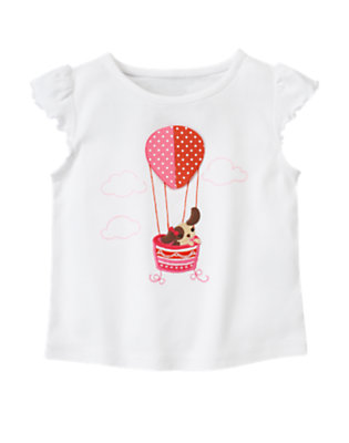 White Puppy Hot Air Balloon Tee by Gymboree