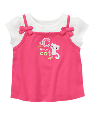 Tulip Pink C Is For Cat Layered Tee by Gymboree