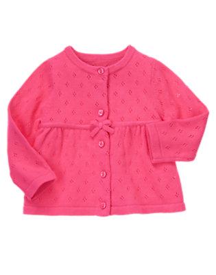 Toddler Girls Tulip Pink Pointelle Sweater Cardigan by Gymboree