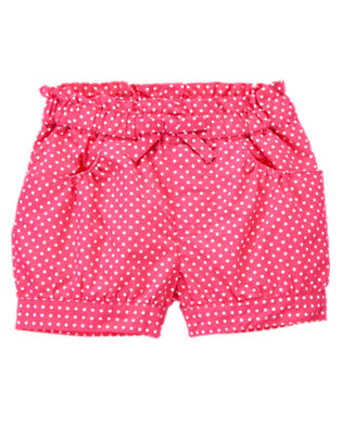 Toddler Girls Tulip Pink Dot Bow Dot Short by Gymboree