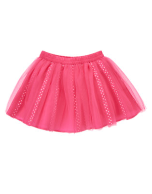 Toddler Girls Tulip Pink Dot Ribbon Tutu Skirt by Gymboree