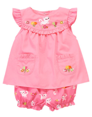 Toddler Girls Hydrangea Pink Kitty Blossom Two-Piece Set by Gymboree
