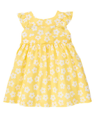 Toddler Girls Buttercup Yellow Blossom Flower Bow Dress by Gymboree