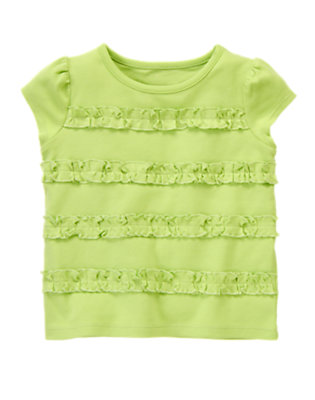 Green Tea Ruffle Tee by Gymboree