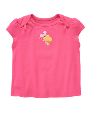 Tulip Pink Mouse Cupcake Tee by Gymboree