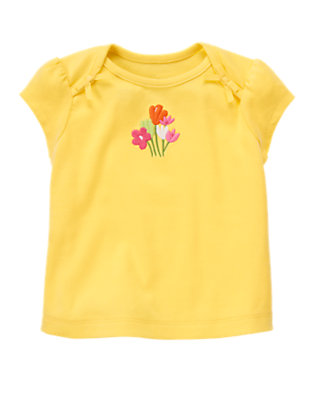 Buttercup Yellow Flower Tee by Gymboree