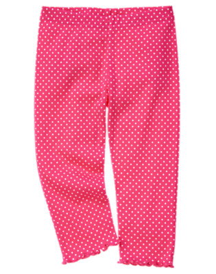 Toddler Girls Tulip Pink Dot Dot Legging by Gymboree