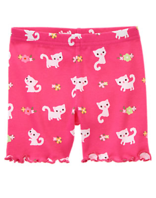 Toddler Girls Tulip Pink Kitty Kitty Flower Bike Short by Gymboree