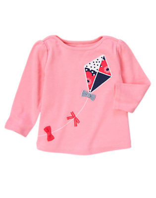 Spring Pink Bow Kite Long Sleeve Tee by Gymboree