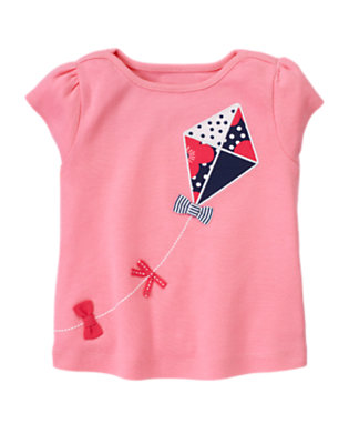 Spring Pink Bow Kite Tee by Gymboree