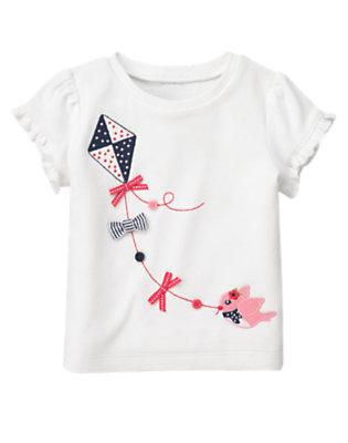 White Button Bow Bird Kite Tee by Gymboree
