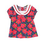 Ribbon Flower Dot Sailor Top